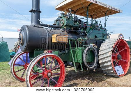 Blandford Forum.dorset.united Kingdom.august 24th 2019.a Ransomes Sims And Jefferies Traction Engine