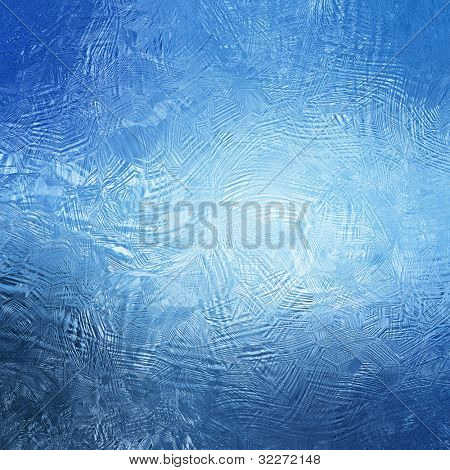 Blue frosty background