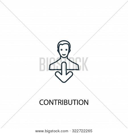 Contribution Concept Line Icon. Simple Element Illustration. Contribution Concept Outline Symbol Des