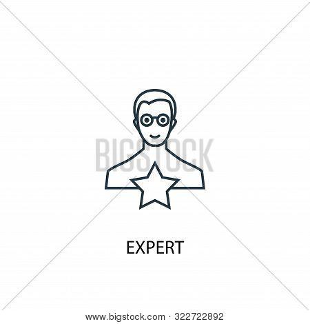 Expert Concept Line Icon. Simple Element Illustration. Expert Concept Outline Symbol Design. Can Be