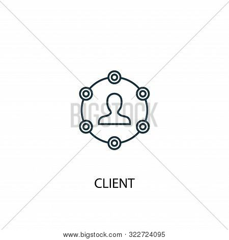 Client Concept Line Icon. Simple Element Illustration. Client Concept Outline Symbol Design. Can Be