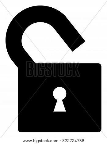 Vector Unlock Flat Icon. Vector Pictogram Style Is A Flat Symbol Unlock Icon On A White Background.
