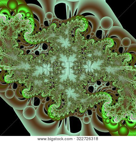 Fractal Pattern. Abstract Digital Background Generated On A Computer.