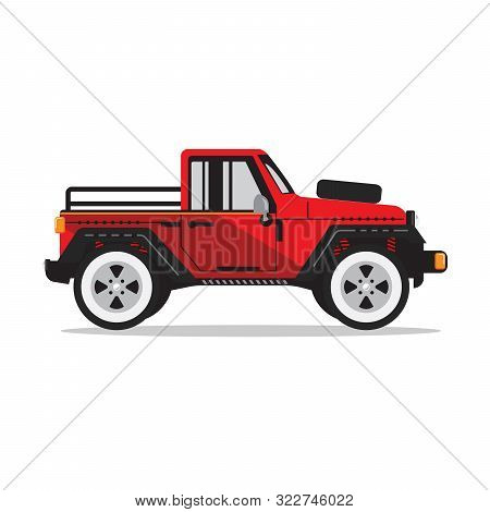 Offroad Car,  Vector Illustration. Design Modern. Pickup Truck