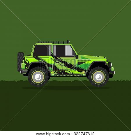 Offroad Car,  Vector Illustration. Design Modern. Travel