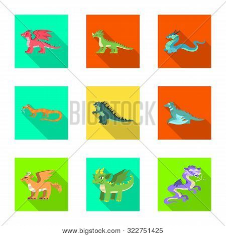 Vector Illustration Of Legend And Halloween Icon. Collection Of Legend And History Stock Symbol For