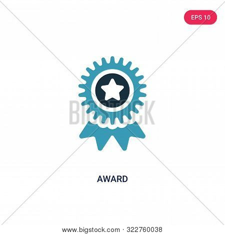 award icon in two color design style.