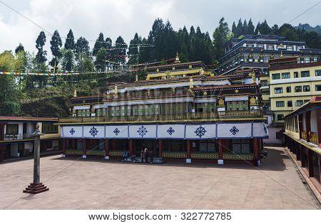Sikkim, India, May 2014 Tourist At Rumtek Monastery