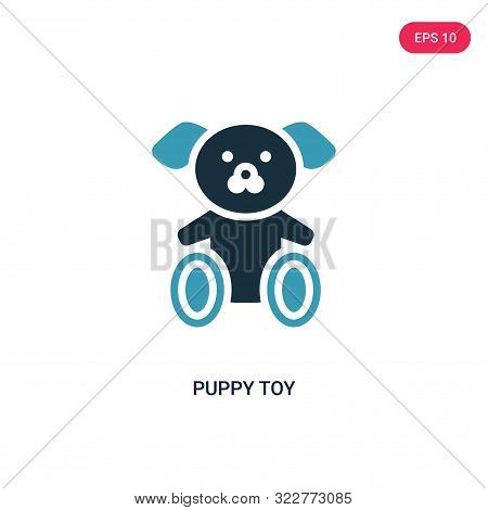 Puppy Toy Icon In Two Color Design Style. Puppy Toy Vector Icon Modern And Trendy Flat Symbol For We