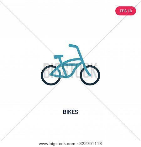 bikes icon in two color design style.