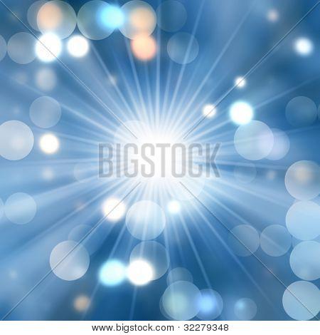 Starburst and blurred lights background