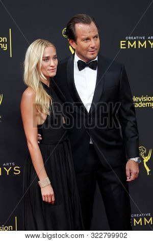 LOS ANGELES - SEP 14:  Alessandra Brawn, Will Arnett at the 2019 Primetime Emmy Creative Arts Awards at the Microsoft Theater on September 14, 2019 in Los Angeles, CA