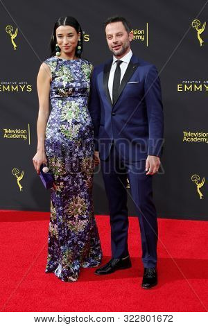 LOS ANGELES - SEP 14:  Lily Kwong, Nick Kroll at the 2019 Primetime Emmy Creative Arts Awards at the Microsoft Theater on September 14, 2019 in Los Angeles, CA