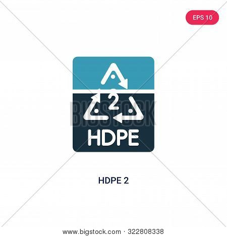 hdpe 2 icon in two color design style.