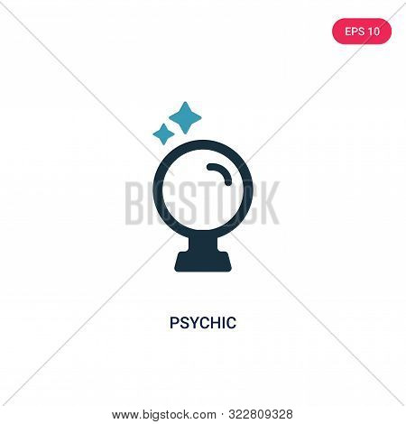 psychic icon in two color design style.
