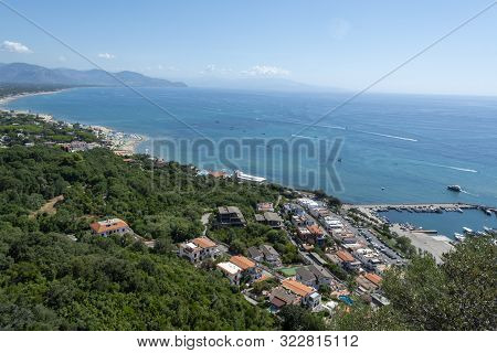 View On San Felice Circeo Town And Sea Bay, Lazio, Italy
