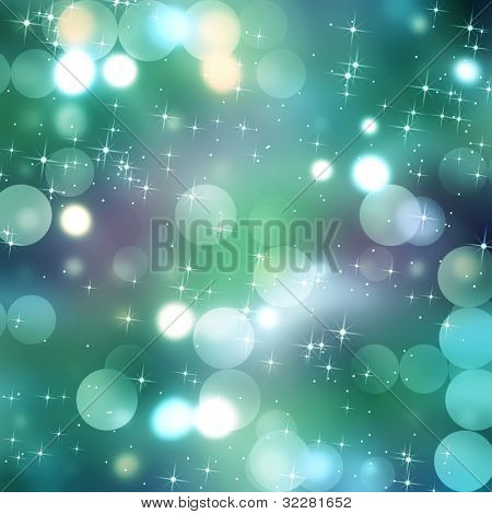 Blurred lights and stars background