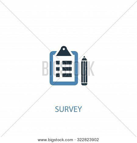 Survey Concept 2 Colored Icon. Simple Blue Element Illustration. Survey Concept Symbol Design. Can B