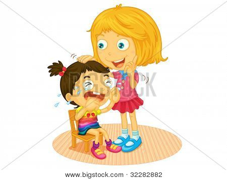 Illustration of a girl crying - EPS VECTOR format also available in my portfolio.