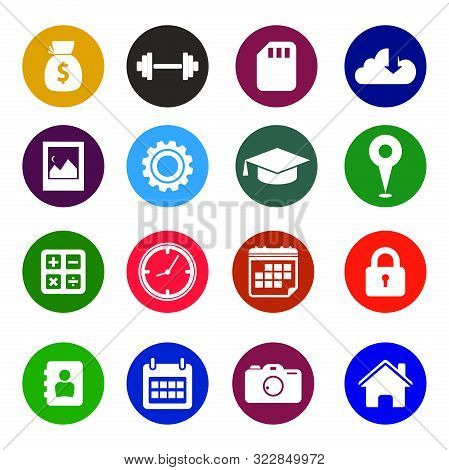 Icon Pack. 16 Icon For Mobile App. Set Of Icon Mobile And Web App. Finance Icon, Bussines Icon, Mobile App Icon, Web Icon, Education app Icon. EPS10