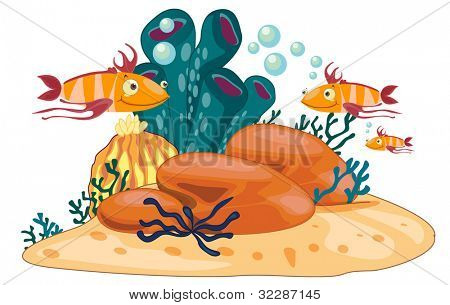 coral reef scene illustration - EPS VECTOR format also available in my portfolio.