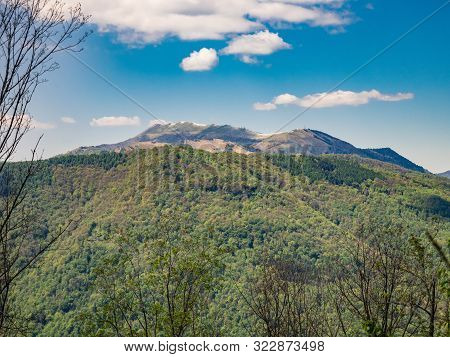 View Of Monte San Primo Summit As Seen From Hiking Trail To Corni Di Canzo, Lombardy, Italy