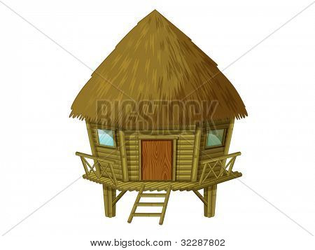 Illustration of a wooden hut - EPS VECTOR format also available in my portfolio.