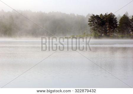 Fog Above Lake In The Morning. Samuel De Champlain Prov. Park