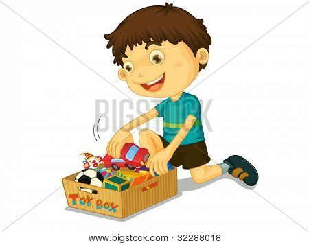 Illustration of boys with his toys - EPS VECTOR format also available in my portfolio.