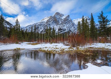A Beautiful Winter Day In The Mountains Of Kananaskis In Peter Lougheed Provincial Park, Alberta, Ca
