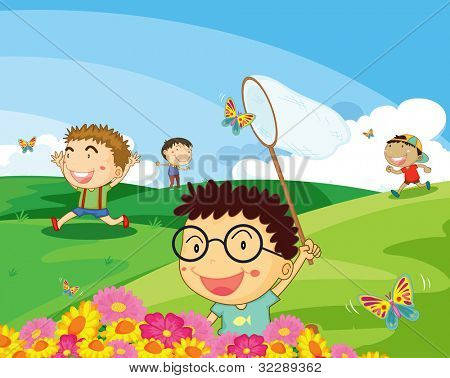 illustration of a kids on a white background - EPS VECTOR format also available in my portfolio.