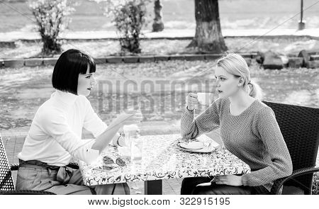 Togetherness And Female Friendship. True Friendship Friendly Close Relations. Trust Her. Female Frie