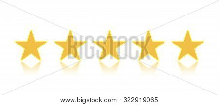 Rating Stars Or 5 Rate Review Vector.  Ranking Five Star Signs. Vector Illustration