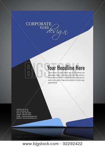 Professional business flyer template or corporate banner design in dark and bright colors with space for your text, can be use for publishing, print and presentation. Vector illustration in EPS 10. poster