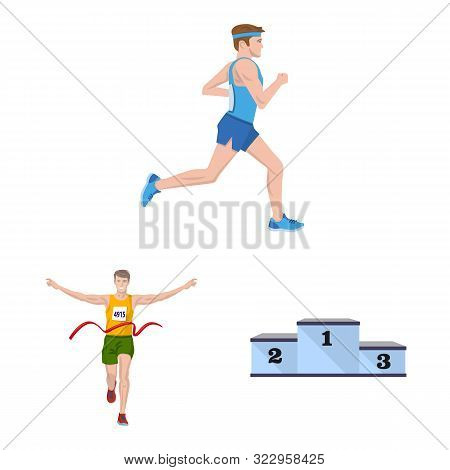 Vector Design Of Step And Sprint Icon. Collection Of Step And Sprinter Stock Vector Illustration.