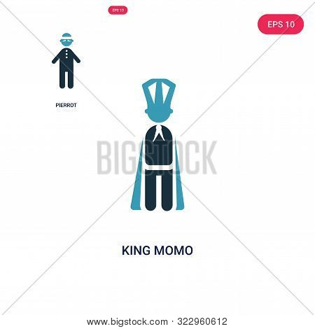 king momo icon in two color design style.