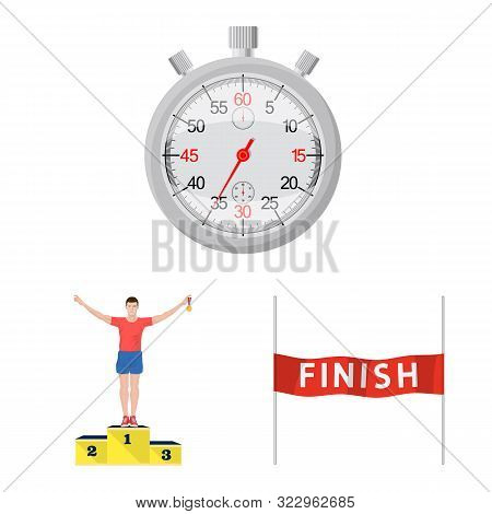 Vector Illustration Of Step And Sprint Logo. Collection Of Step And Sprinter Stock Symbol For Web.