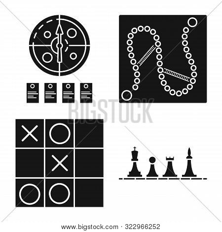 Vector Illustration Of Leisure And Rivalry Sign. Collection Of Leisure And Concept Vector Icon For S