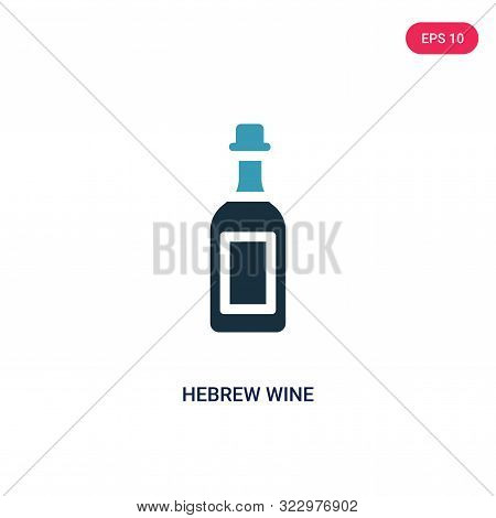 hebrew wine icon in two color design style.