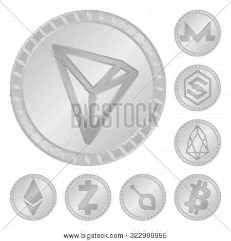 Isolated Object Of Cryptography And Finance Icon. Collection Of Cryptography And E-business Vector I