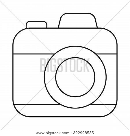 Isolated Object Of Camera And Photo Symbol. Set Of Camera And Dslr Stock Symbol For Web.