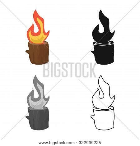 Vector Illustration Of Blaze And Fiery Logo. Set Of Blaze And Blazing Vector Icon For Stock.