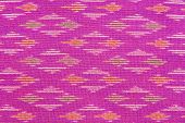 Pattern of the fabric woven into the beautiful art of Thailand. poster