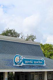 Weeki Wachee Springs State Park Sign - Weeki Wachee Florida July 7, 2019