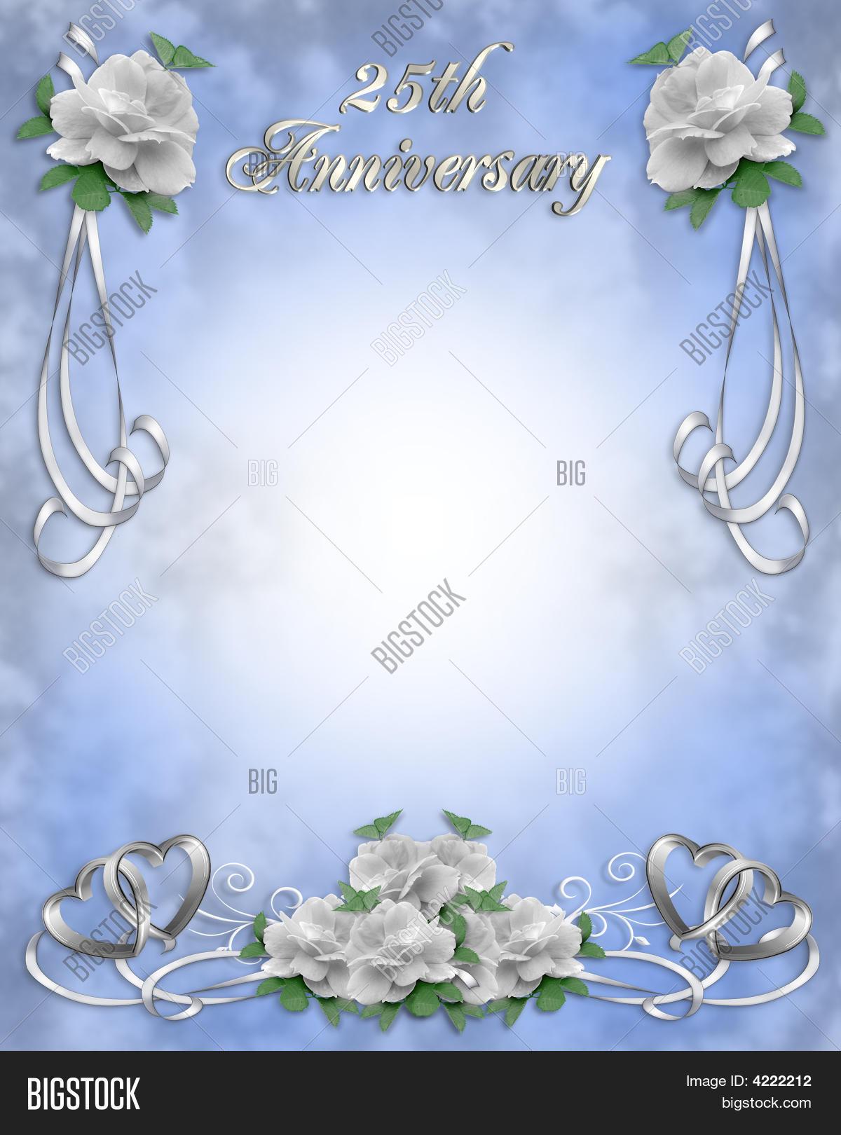 25Th Wedding Anniversary Invitation Image Amp Photo Bigstock