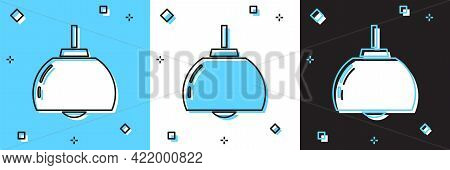 Set Chandelier Icon Isolated On Blue And White, Black Background. Vector