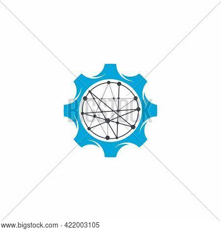 Digital Service Logo, Tech Service Logo Designs Template
