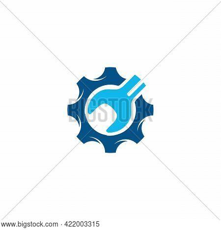 Bike Repair Logo Designs Concept Vector, Gear Mechanic Logo Template