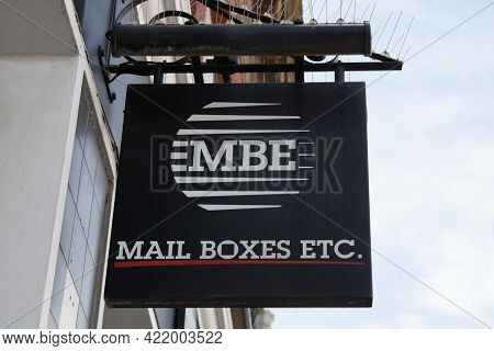The Mail Boxes Etc Sign Hanging From A Shop In The Uk, Taken 30th March 2021