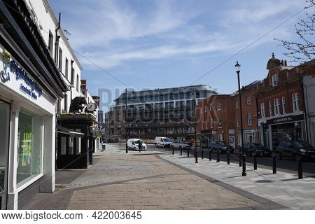 Views Of The High Street In Maidenhead, Berkshire In The Uk, Taken 30th March 2021